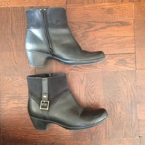 Comfy Real Leather Short Heeled Ankle Boots